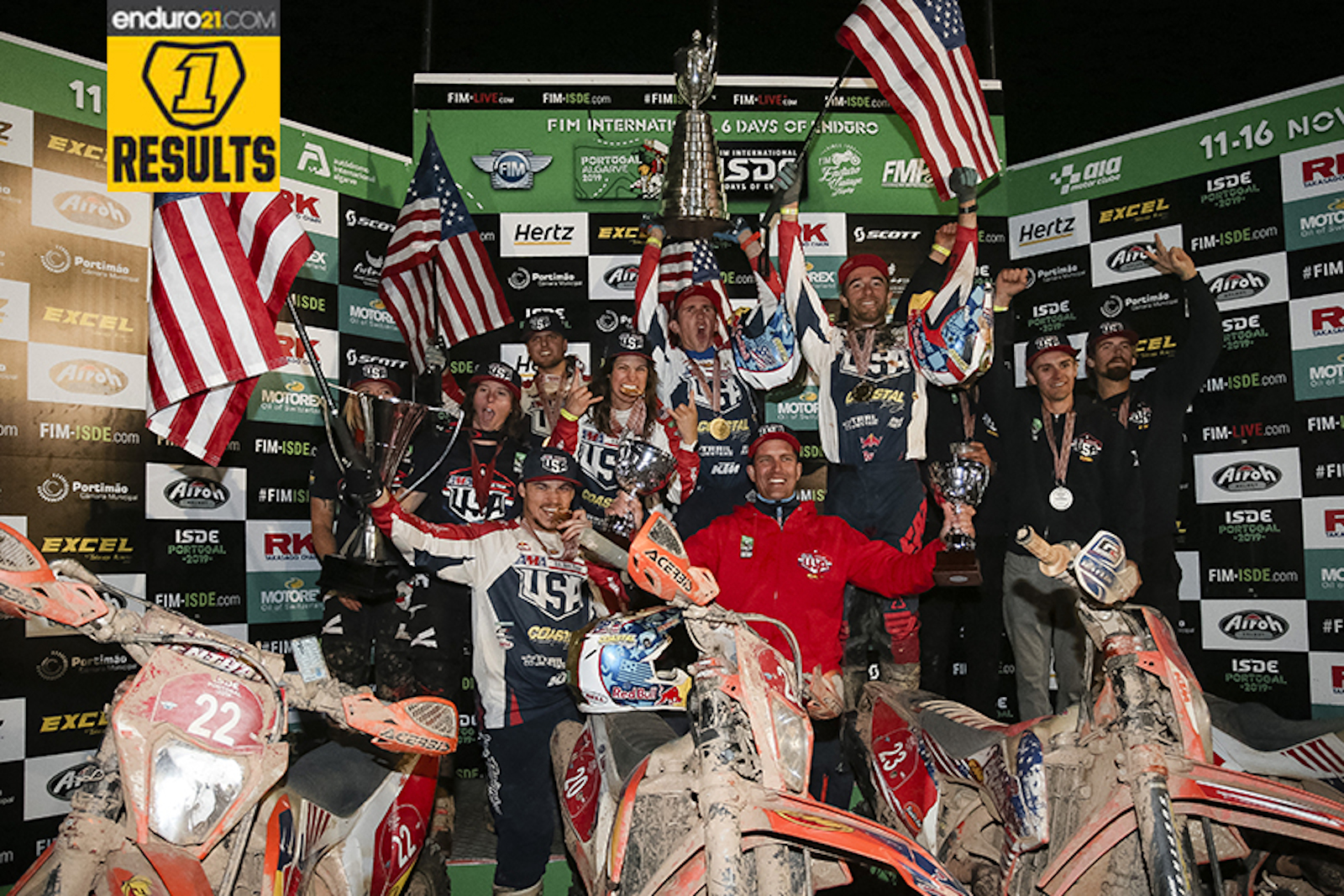 Results feed: ISDE 2019 Day 6 – USA take World and Women's Trophies, Australia win the Juniors