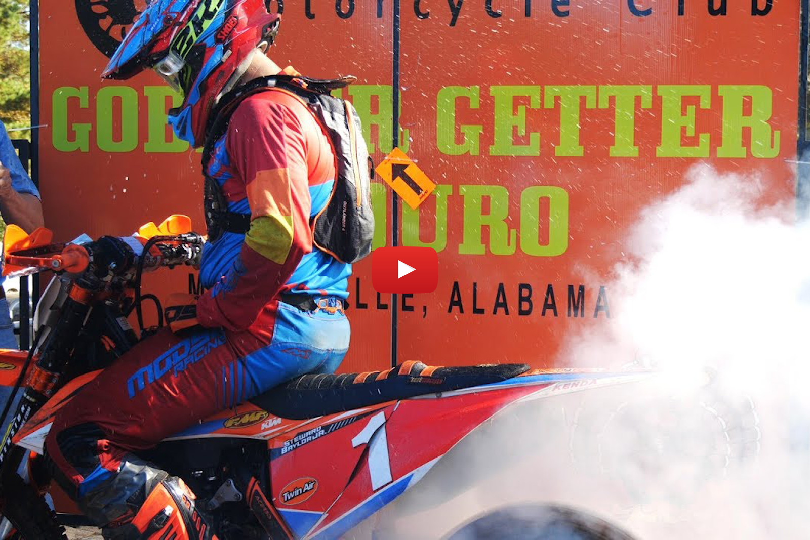 Gobbler Getter National Enduro – Flat-out between trees