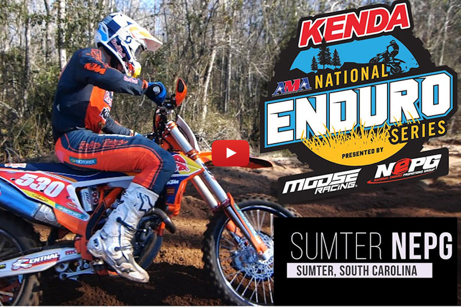 Tree dodging South Carolina style – Sumter National Enduro highlights and Baylor's crash