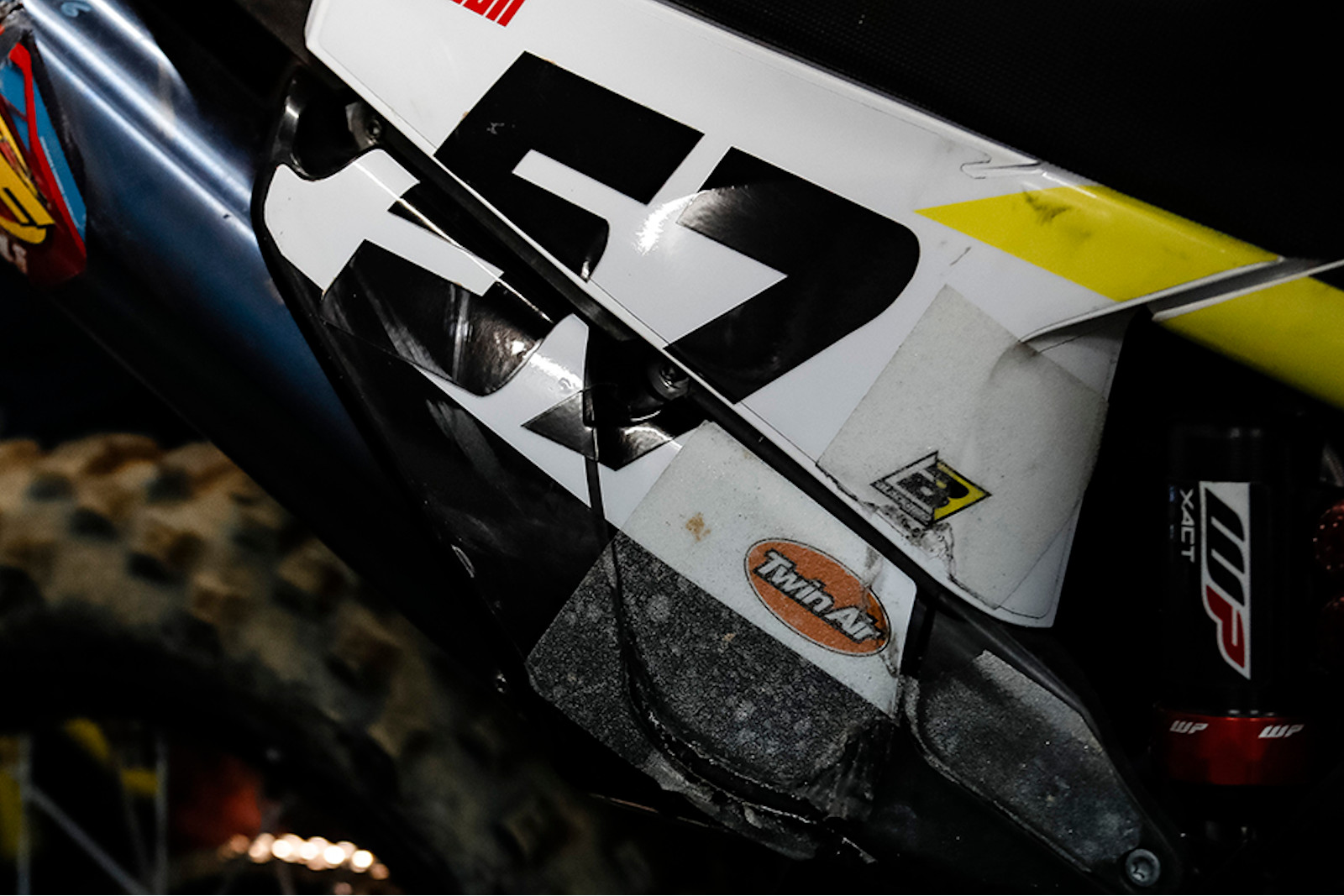 Spotted: Skateboard grip patches on Billy Bolt's SuperEnduro Husqvarna