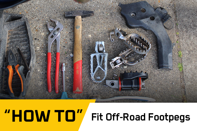 How To: Fit off-road footpegs