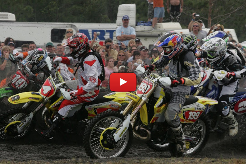 GNCC throwback - Travis Pastrana takes on David Knight in 2008