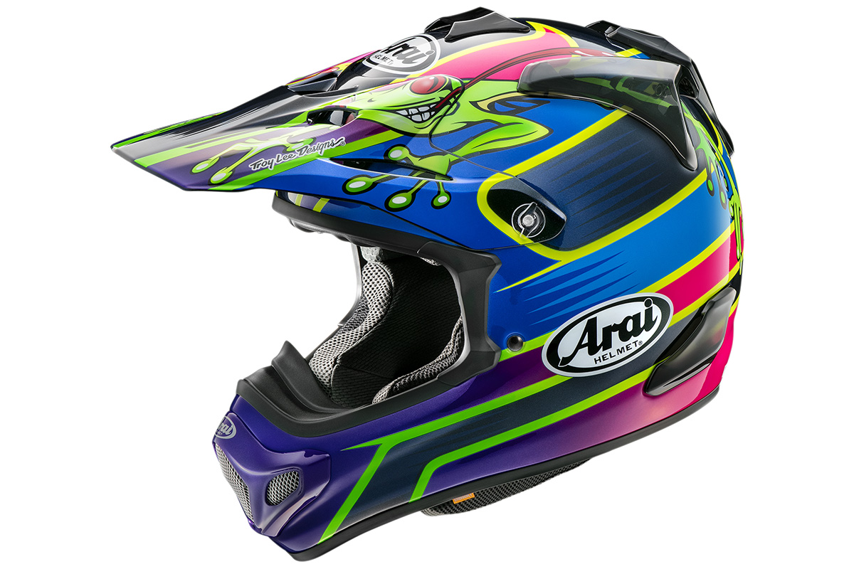First look: Arai MX-V Barcia-3 Frog Helmet