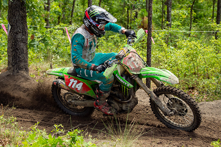 Camp Coker GNCC: Overdue victory for Josh Strang as Russell crashes