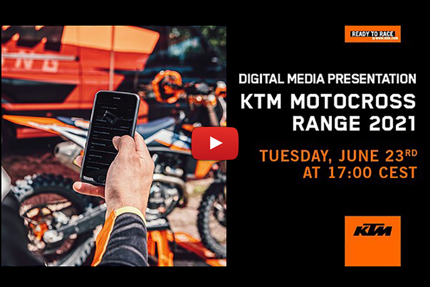 KTM 2021 SX/XC online model launch – New tuner App goes live
