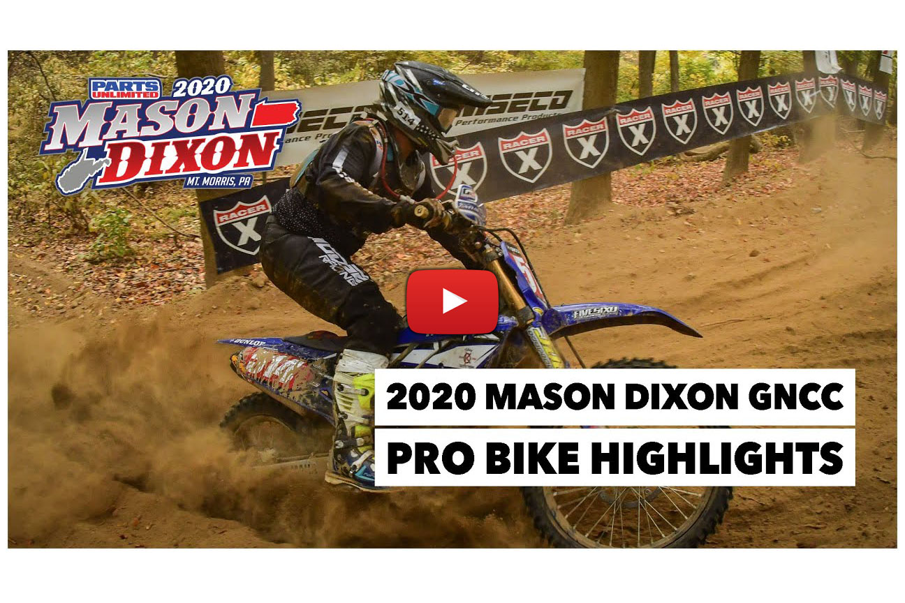 GNCC: Pro highlights from Mason-Dixon – Baylor wins, Russell crowned 2020 champion