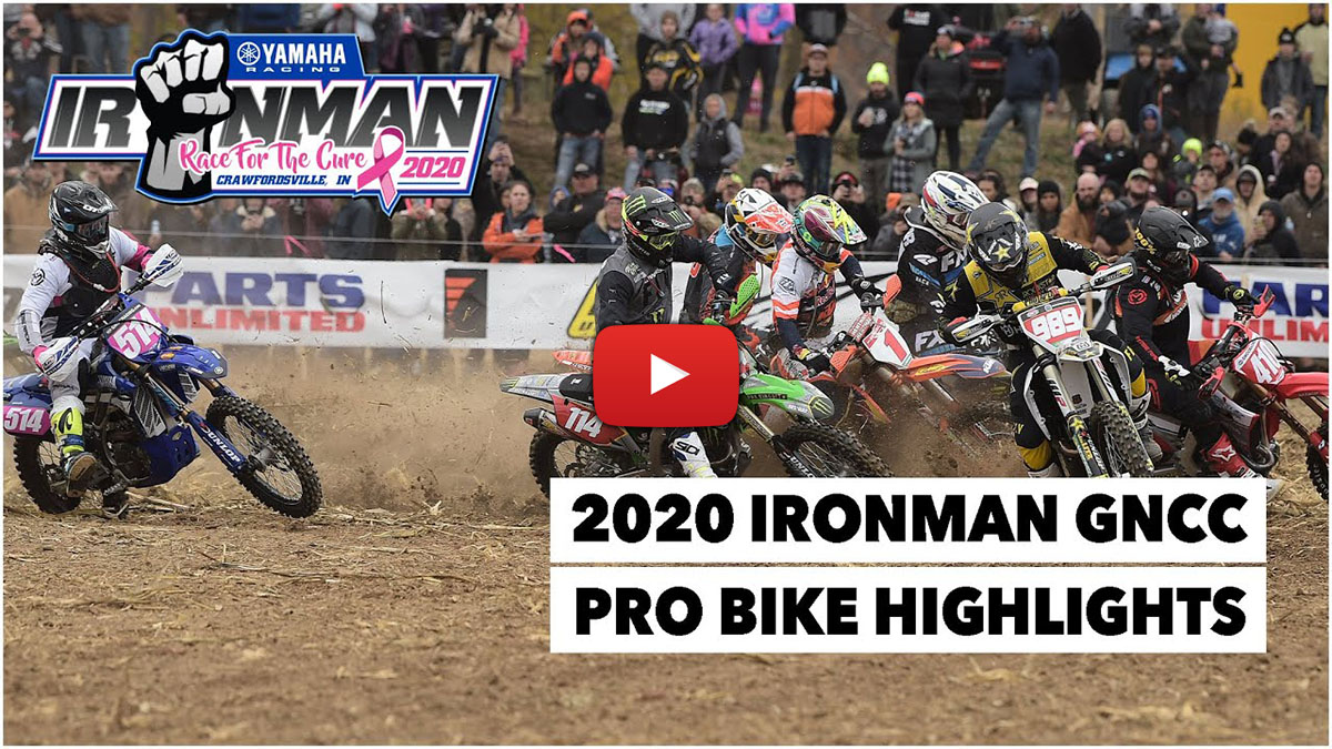 GNCC Racing: Ironman Pro Bike video highlights