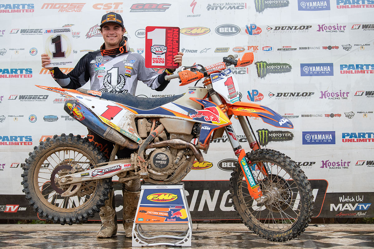 Kailub Russell wins eighth GNCC Championship