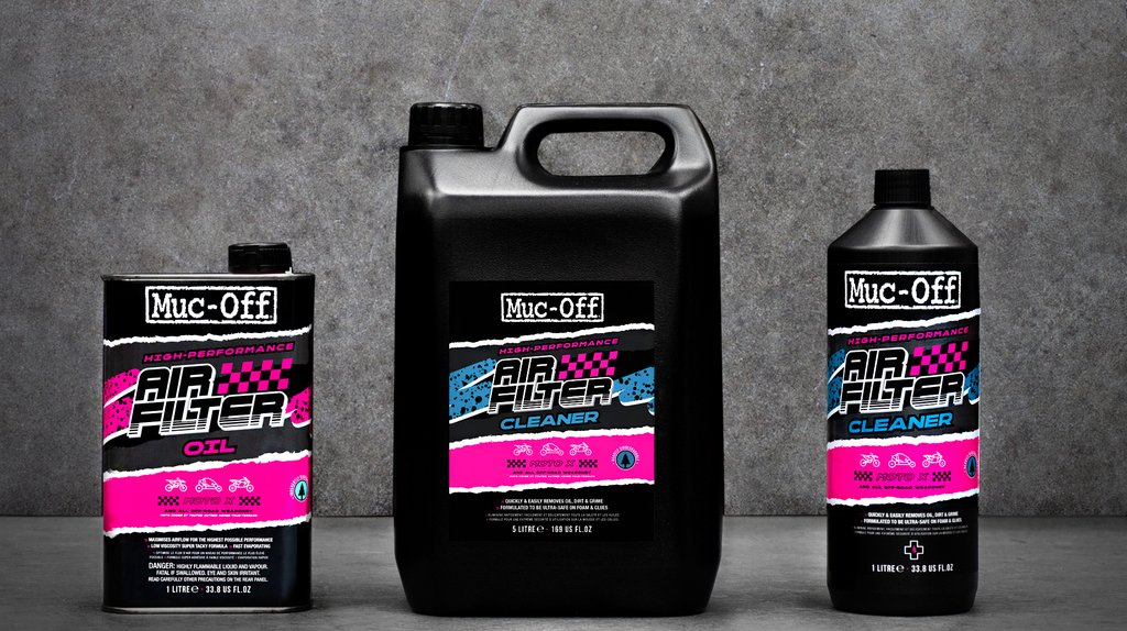 Muc-Off launches air filter cleaner and oil range