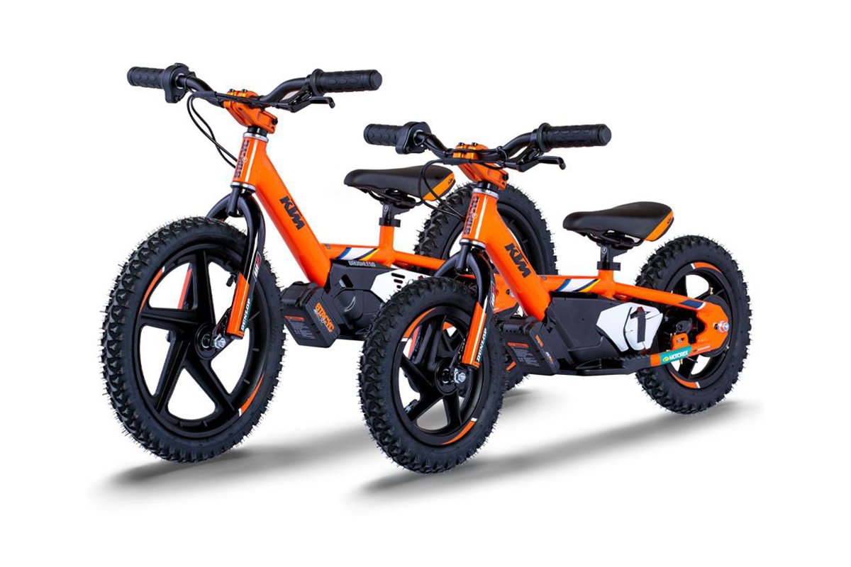 First look: new KTM STACYC e-powered balance bikes for kids