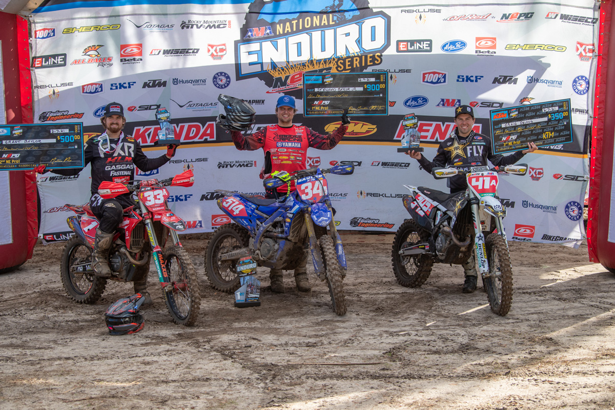 AMA National Enduro: Sumter Rnd 1 win for Steward Baylor
