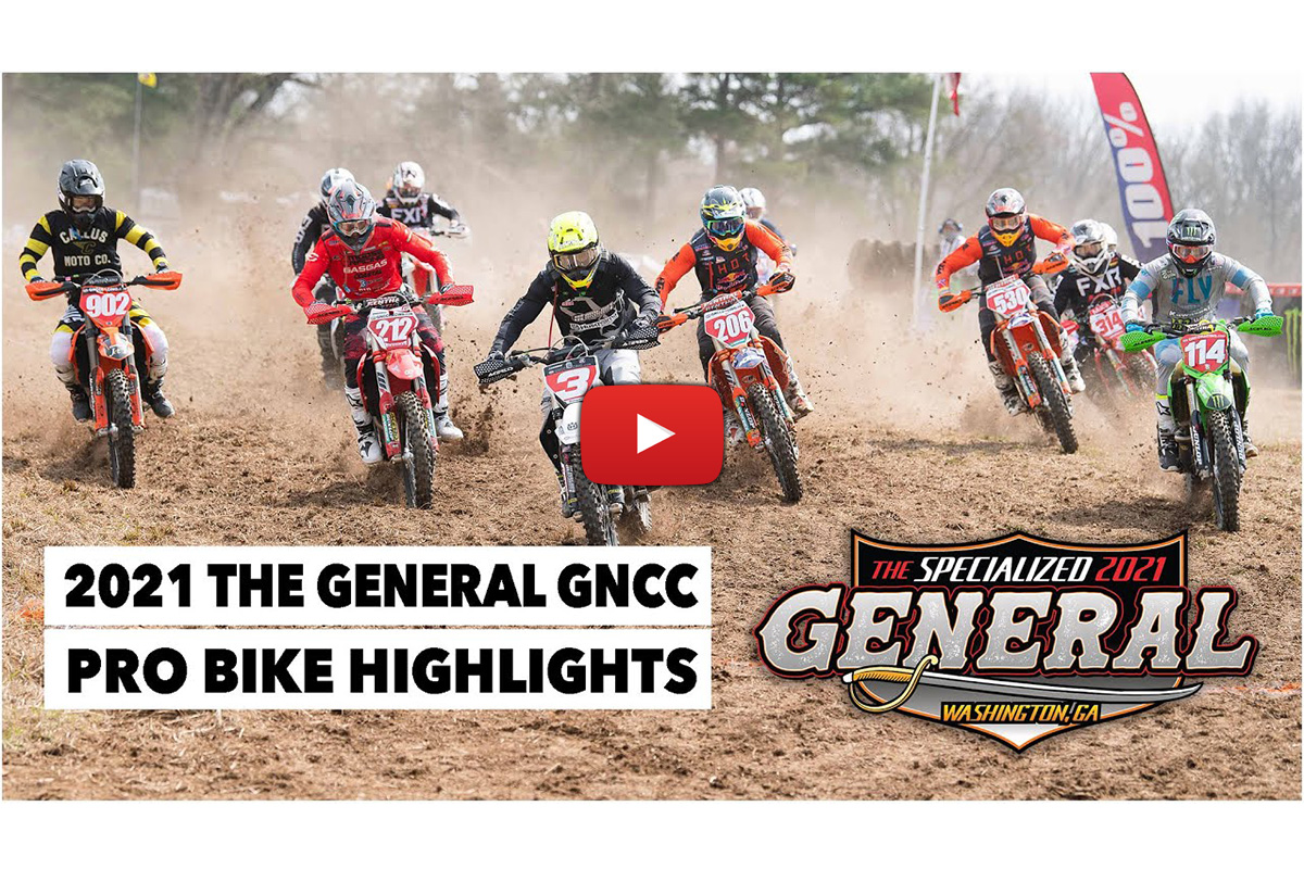 GNCC: Pro class video highlights from The General
